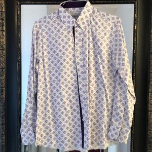 Other - Men's casual button down - white and purple